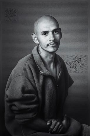 Alfonso Garundo, from Land of Dreams series, 2019 I C-print & ink I 182.9 x 121.9 cm