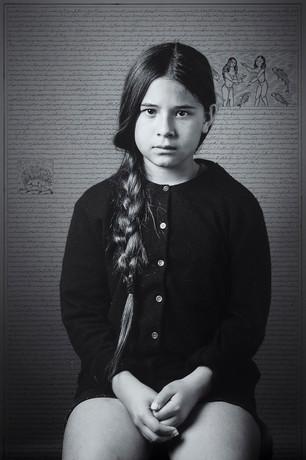 Katalina Espinoza, from Land of Dreams series, 2019 I C-print & ink I 79.5 x 119.4 cm