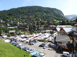 View of Morzine market
