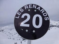 Les Renards piste marker