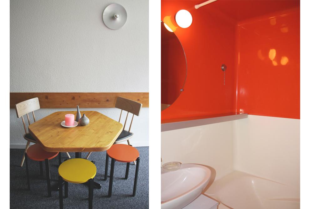Coin repas et salle de bain monobloc