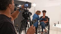 Behind the scenes on set
