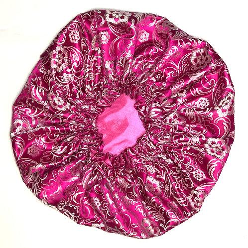 Magenta Paisley Bonnet
