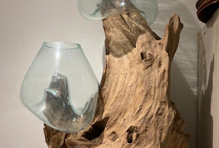 Wood/DoubleVase