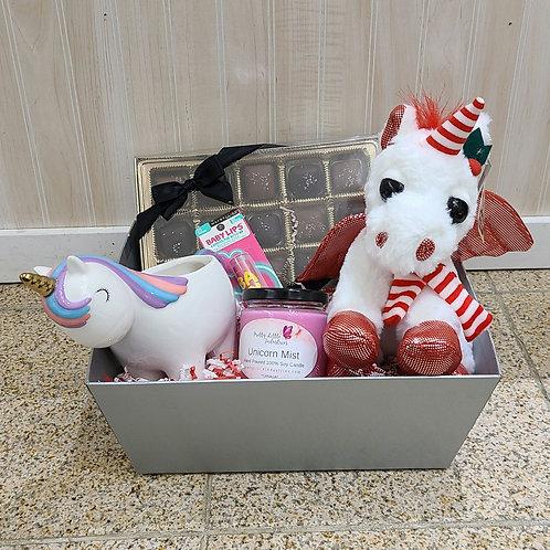 Christmas Unicorn Basket