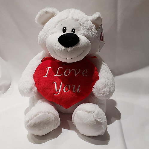 "White ""I Love You"" Teddy Large"