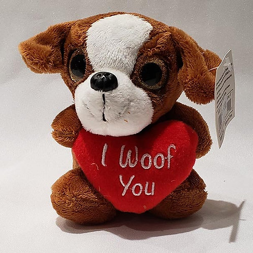 """""""I Woof You"""" Plush Dog"""