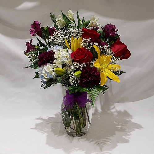 Mixed Garden Vase Arrangement