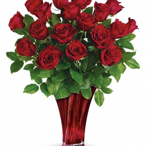 18 roses - NO VASE