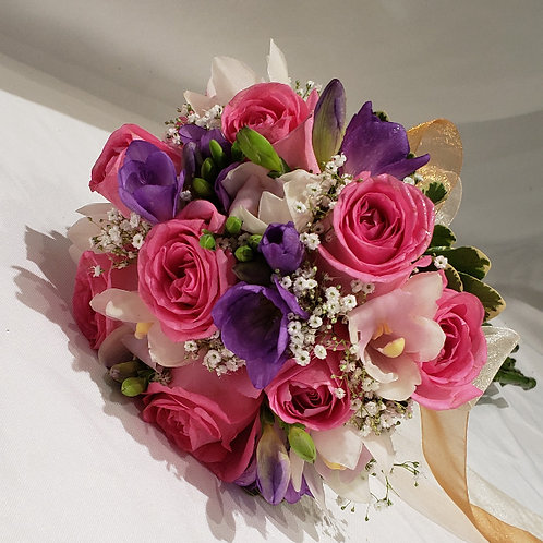 Pink & Purple Princess Bridal Bouquet