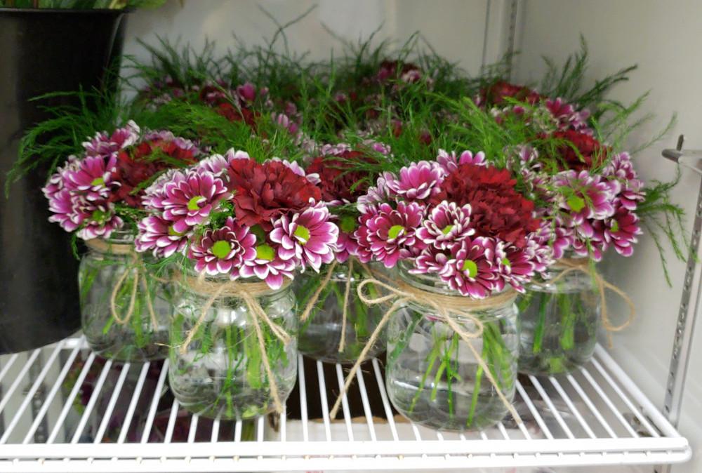 Carnation daisy centerpieces