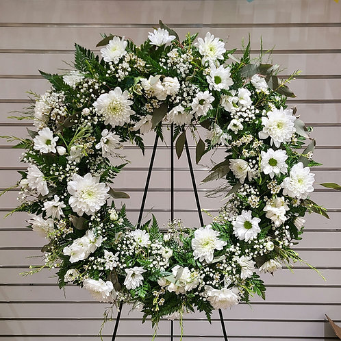 Forever in White Wreath