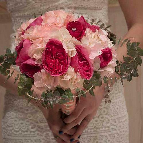 Pink Hydrangea Bridal Bouquet