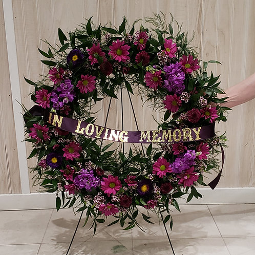 Purple Memories Wreath
