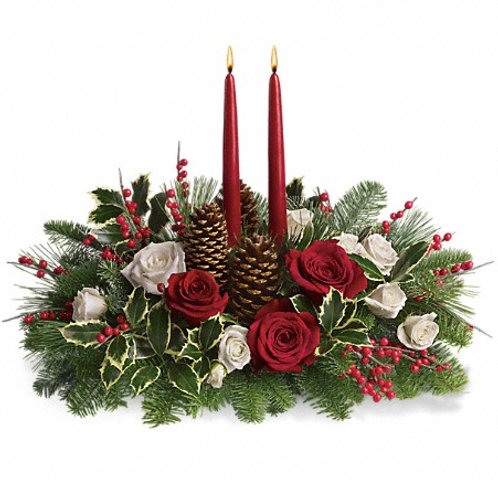 Christmas Wishes Centerpiece by Teleflora