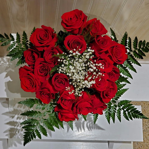 20 red roses -NO VASE