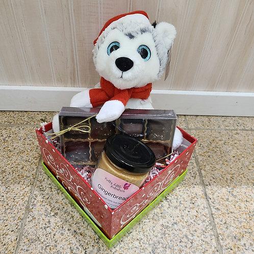 Winter Husky Basket