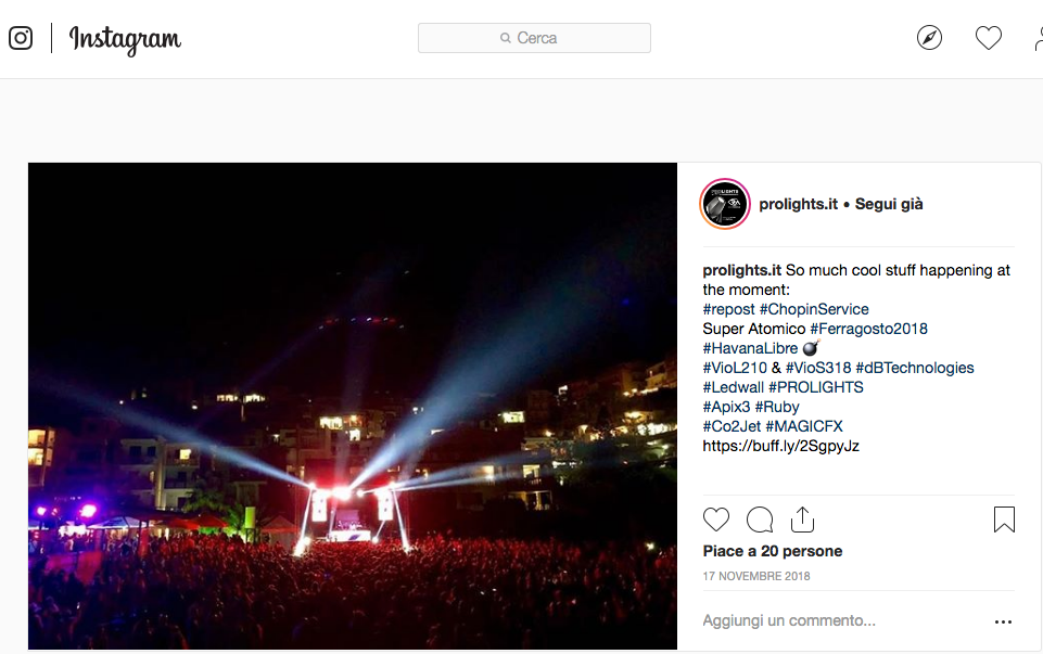 Instagnam #Music&Lights Supported Chopin