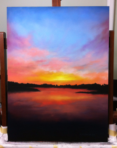 Charity landscape painting
