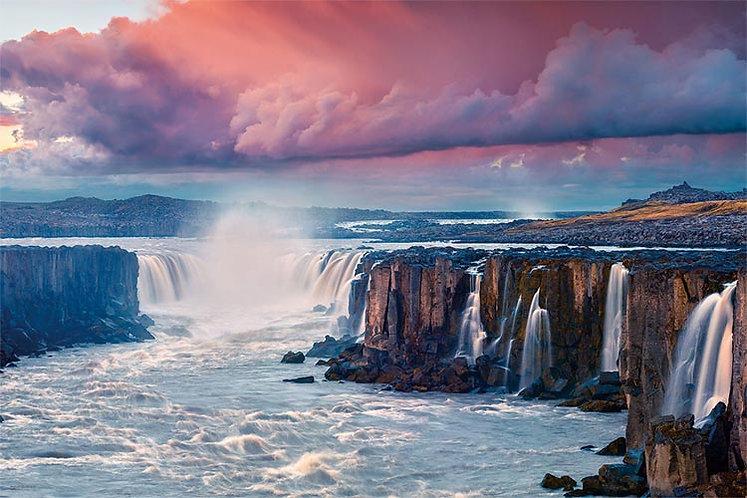 冰島風景 - 塞爾福斯瀑布 1000塊 (50×75cm)
