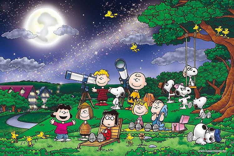 (夜光) 史努比 - 月光之下賞月 1000塊 (50×75cm)
