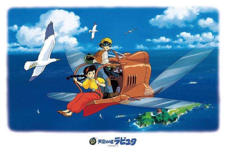 天空之城 - 前往空中城堡拉普達 1000塊 (50×75cm)