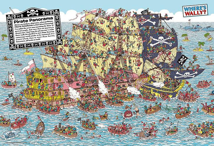 (迷你尺寸) 威利在哪裏? - 海盜船恐慌 1000塊 (26×38cm)