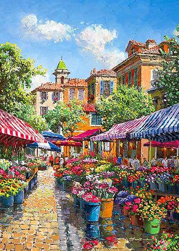 Sam Park - 美麗的馬爾凱花市 500塊 (38×53cm)