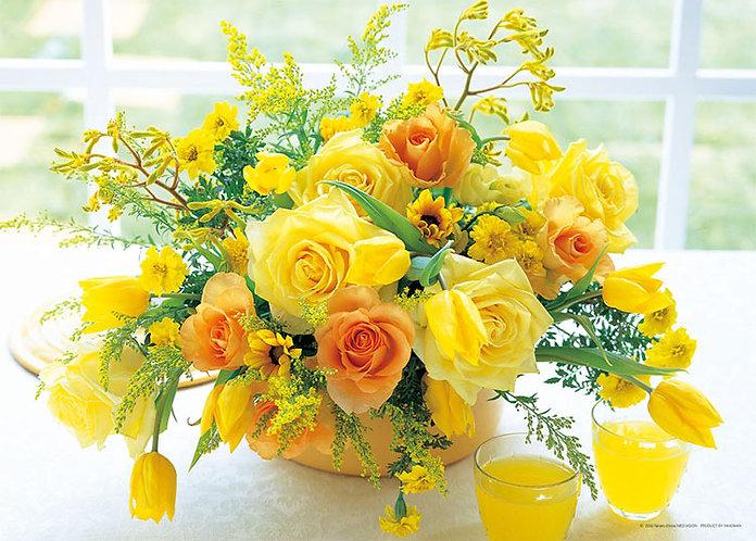 花藝 - 黃色和諧 500塊 (38×53cm)