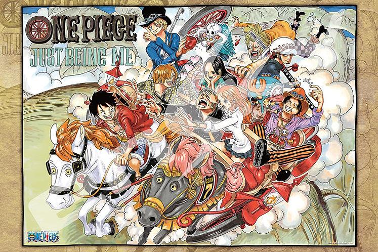 海賊王 - 二頭馬車浮世繪 1000塊 (50×75cm)