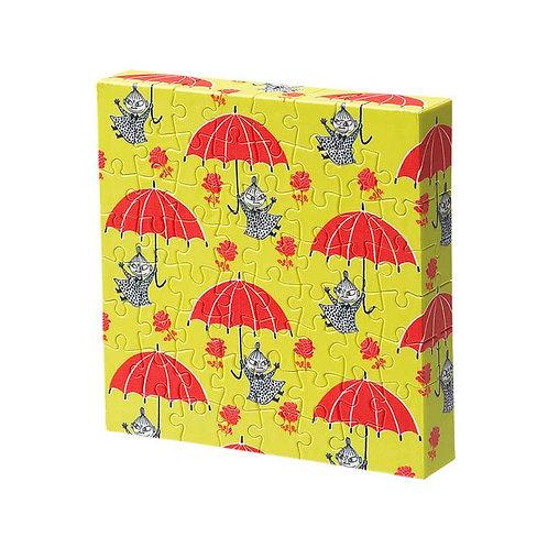 畫布框立體 - 姆明一族 我的紅色小雨傘 56塊