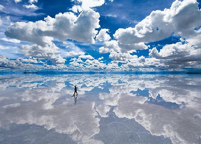 玻利維亞風景 - 天空之鏡 1500塊 (50×75cm)