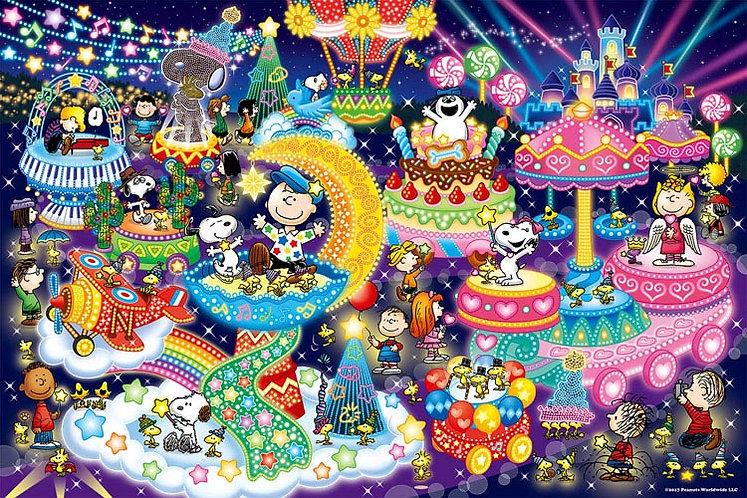 (夜光) 史努比 - 史努比燈飾派對 300塊 (26×38cm)