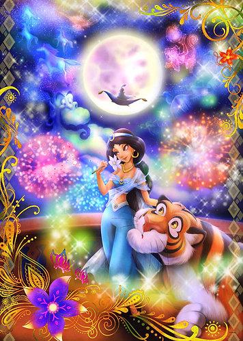 (夜光) 阿拉丁 - 茉莉公主愛的魔法 500塊 (35×49cm)