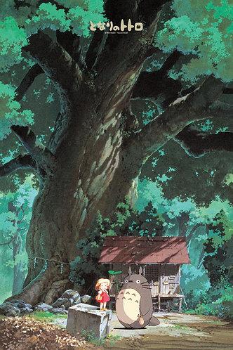 龍貓 - 大樟樹下的小屋 1000塊 (50×75cm)