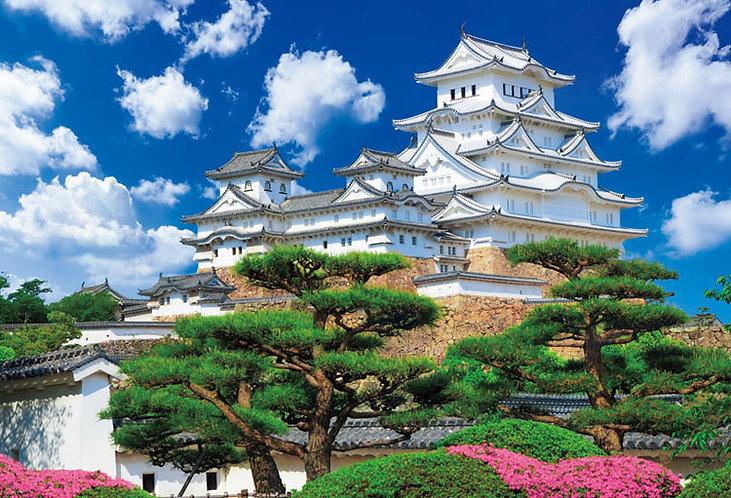 日本風景 - 姬路城 1000塊 (49×72cm)