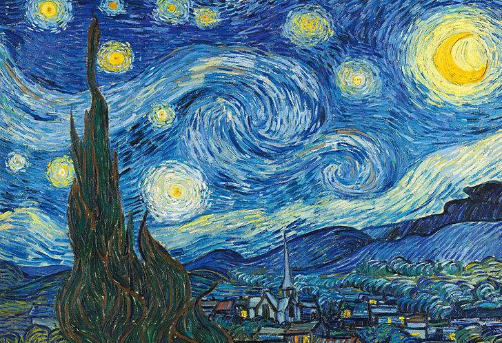 (迷你尺寸) 梵高 - 星月夜 1053塊 (26×38cm)