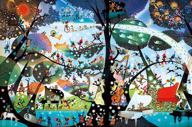 藤城清治 - 矮人的天堂 1000塊 (50×75cm)