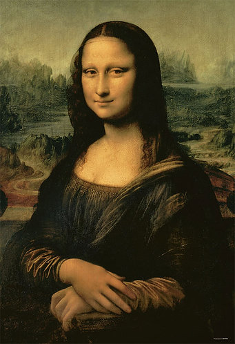 (帆布紋理) 達文西 - 蒙娜麗莎 1000塊 (49×72cm)