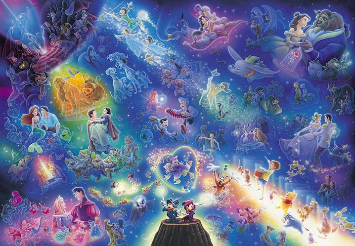 (透明樹脂) 迪士尼 - 迪士尼滿天星 266塊 (18.2×25.7cm)
