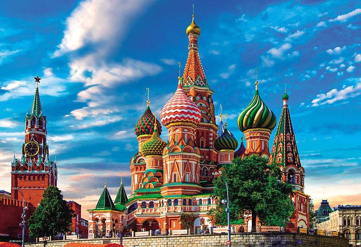 俄羅斯風景 - 聖巴西爾大教堂 300塊 (26×38cm)