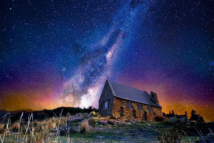 紐西蘭風景 - 特卡波小屋 1000塊 (50×75cm)