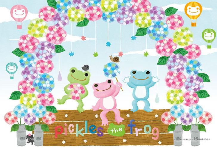 Pickles the Frog - 小青蛙繡球花 300塊 (26×38cm)