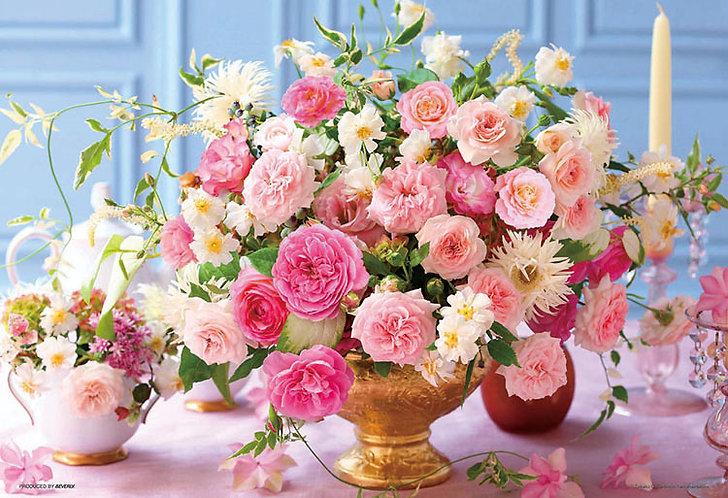 (迷你尺寸) 花藝 - 粉紅玫瑰 1000塊 (26×38cm)