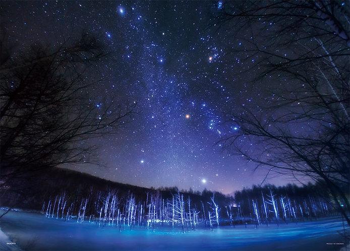 (夜光) 日本風景 - 落在美瑛的天上星星 500塊 (38×53cm)