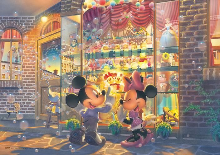 (迷你尺寸) 迪士尼 - 玩具店前的米奇與米妮 1000塊 (29.7×42cm)