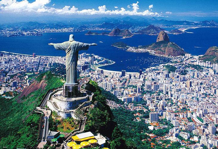 巴西風景 - 里約熱內 (日本進口)盧基督像 1000塊 (49×72cm)