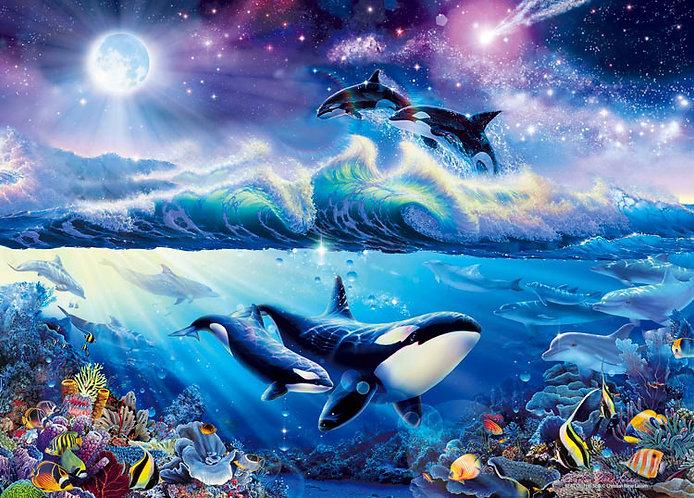 (迷你尺寸) (夜光) Christian Lassen - 海的沖擊 2000塊 (38×53cm)