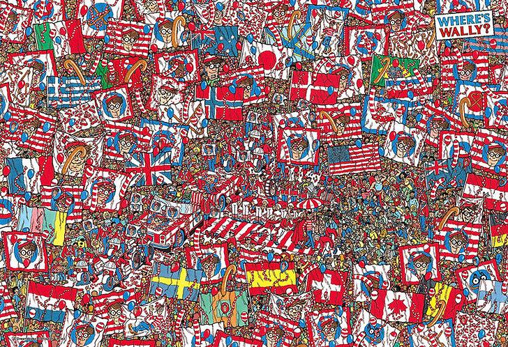 (迷你尺寸) 威利在哪裏? - 國旗派對 1000塊 (26×38cm)