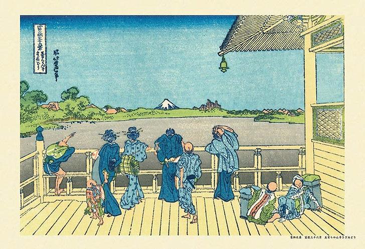 葛飾北齋 - 五百羅漢寺榮螺堂 (冨嶽三十六景) 300塊 (26×38cm)